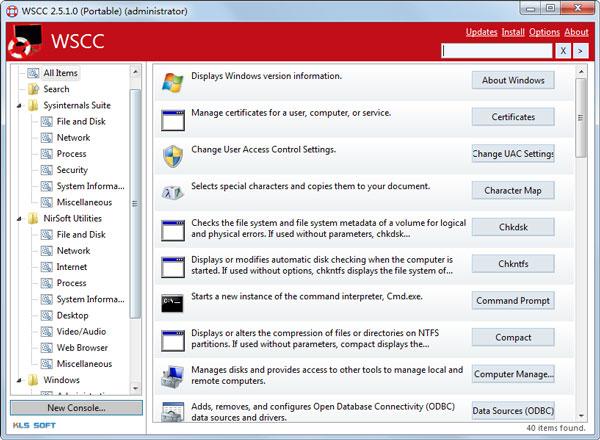 WSCC Portable(系统辅助工具) V2.5.1.0 英文绿色版