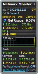 桌面网络状况监视器(Network Monitor II) V22.5