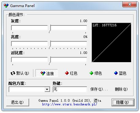 Gamma Panel(屏幕亮度调节) V1.0.0.20 汉化绿色版