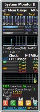 系统监视桌面小工具(system monitor ii) V22.6