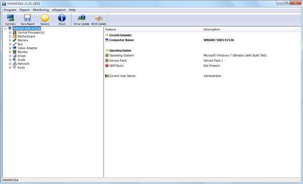 HWiNFO64(系统信息检测软件) V5.25.2855 英文绿色版