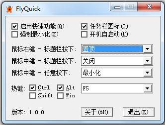 FlyQuick(鼠标快捷键设置软件) V1.0 绿色版