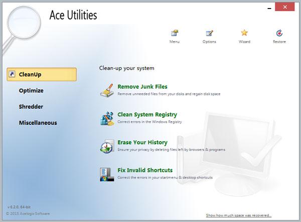 Ace Utilities(清理系统垃圾工具) V6.2.0