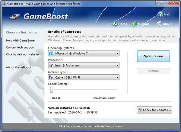 GameBoost(游戏优化工具) V3.7.11.2016
