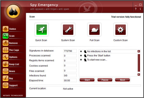 NETGATE Spy Emergency(间谍木马查杀软件) V23.0.405.0