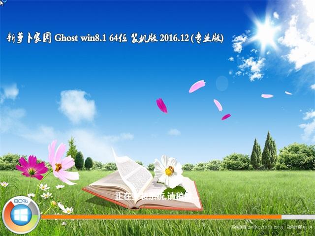 新萝卜家园Ghost Win8.1 X64位 专业版 2016V12(免激活)