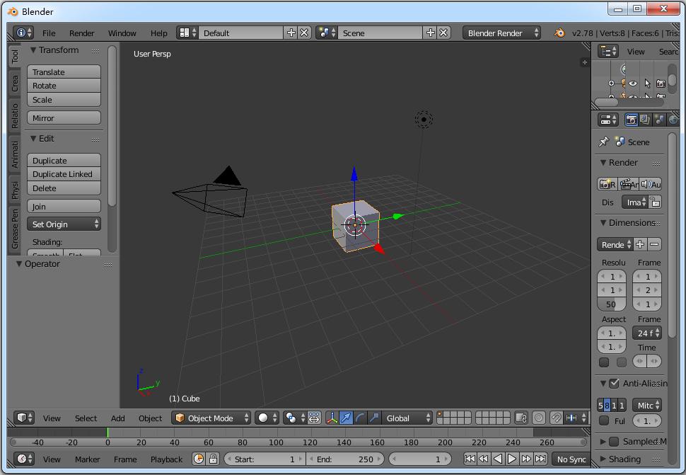 Blender x32(3D绘图软件) V2.78b 英文版