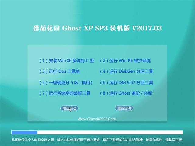 番茄花园GHOST XP SP3 电脑专用版【V201703】