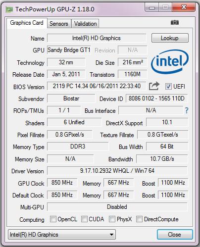 GPU-Z(处理器识别工具) V1.18.0 英文版