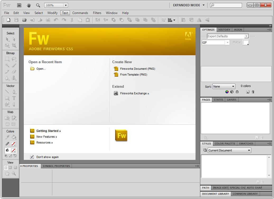 Adobe Fireworks CS5(图形处理软件) V11.0.0.484 官方正式版