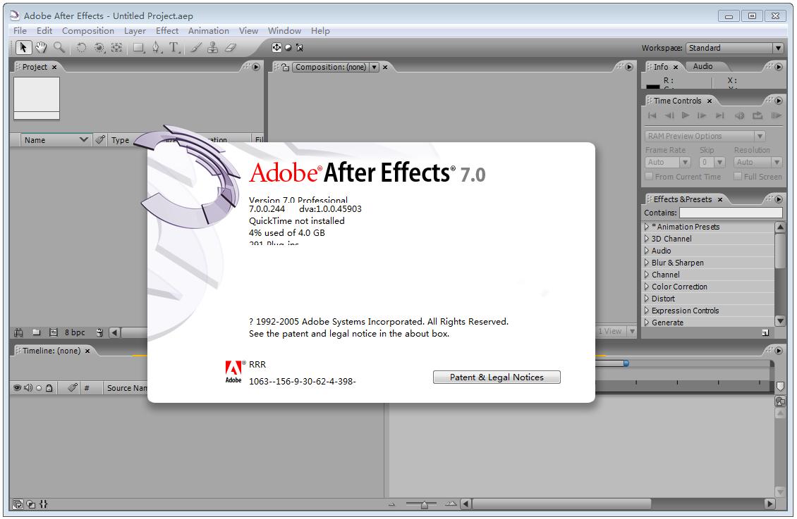 Adobe After Effects(视频特效软件AE) V7.0 汉化破解版