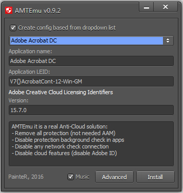 Adobe全系列软件通用破解注册机AMTEmu V0.9.2 绿色版