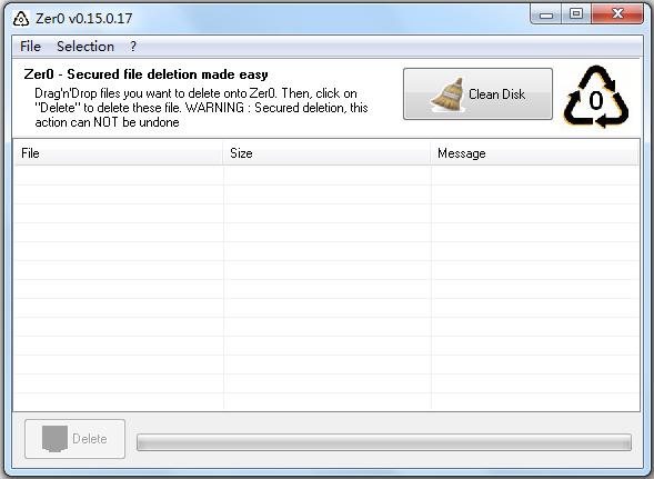 Zer0(文件强制粉碎) V0.15.0.17 英文版