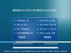 番茄花园 Ghost Win10 32位 专业版 2016V09