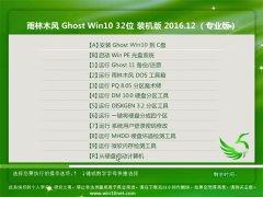 雨林木风Ghost Win10 X32位 通用安全版2016.12月(无需