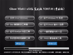 中关村Ghost Win8.1 X32 经典装机版V201701(无需激活)