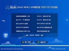 深度技术Ghost Win8.1 x64 最新装机版v2017.02月(绝对