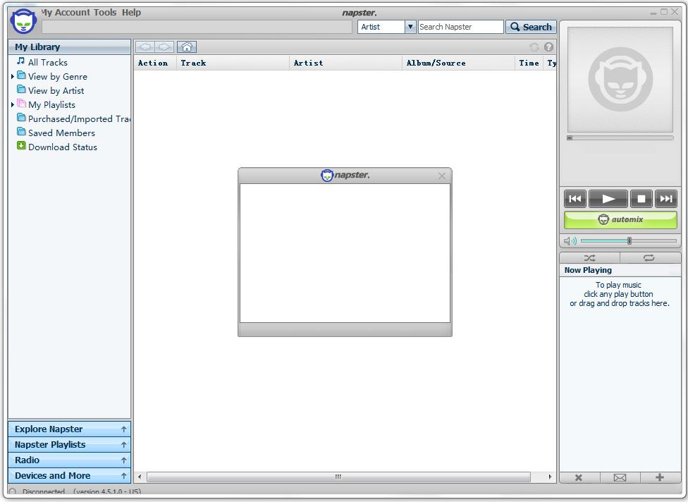 Napster(MP3搜索下载分享工具) V4.5.1.0 英文版