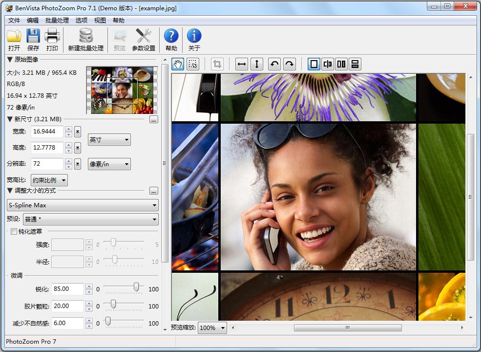 PhotoZoom Pro(图片放大) V7.1.0 简体中文版